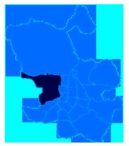 Mapa del Distrito Moncloa donde trabaja el Servicio Tecnico de Calderas Madrid Centro CalderaSAT