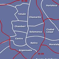 Mapa de Servicio Tecnico de Calderas Madrid Centro capital