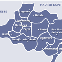Mapa de Servicio Tecnico de Calderas Madrid Sur