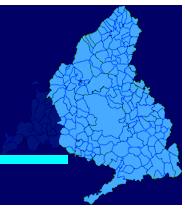 Mapa de la Sierra Oeste donde trabaja el Servicio Tecnico de Calderas Madrid Oeste CalderaSAT